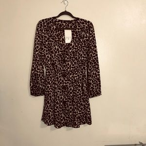 ZARA ANIMAL PRINT DRESS SMALL NWT